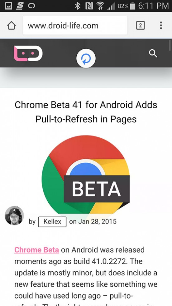 Chrome Beta actualizada a la v41 2