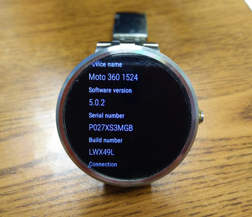 AndroidWear update