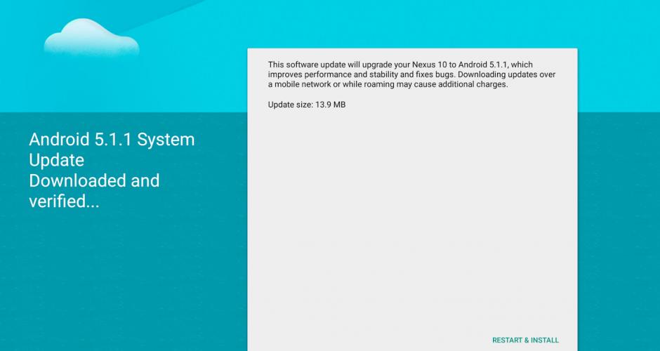 Imágenes de fábrica del Android 5.1.1 disponibles para Wi-Fi Nexus 7 y Nexus 10