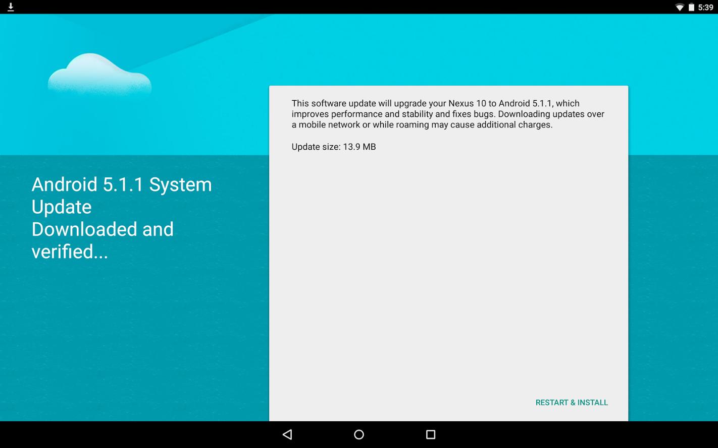 Imágenes de fábrica del Android 5.1.1 disponibles para Wi-Fi Nexus 7 y Nexus 10 2