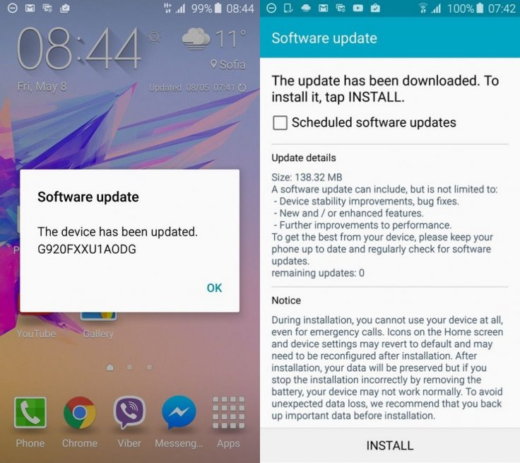 Samsung updates the firmware of Galaxy S6 1