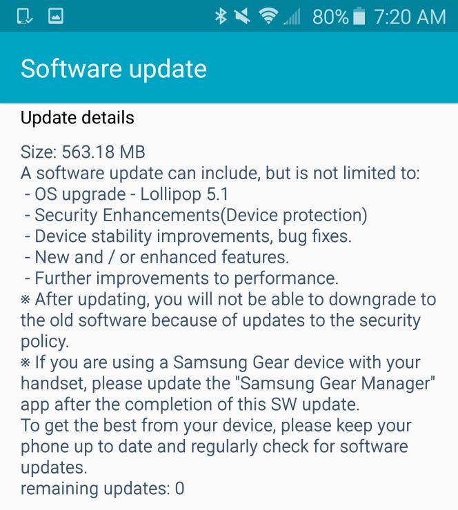 Samsung Galaxy Note 4 es actualizado a Android 5.1.1. Lollipop también en Europa 1