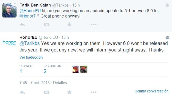 Os Huawei Honor 7 receberão a atualização para o Android 6.0 Marshmallow 1