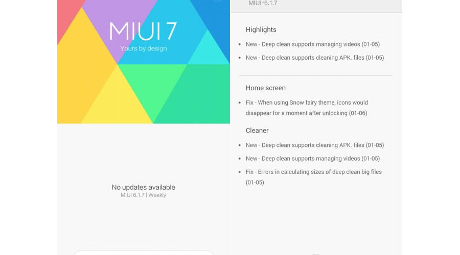 Xiaomi releases first beta MIUI 7 Android 6.0 Marshmallow compatible devices