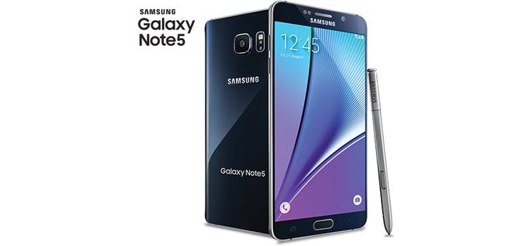 Samsung lanca Android 601 Marshmallow Galaxy Note 5